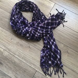 The Limited Purple Fringe Scarf
